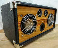 """Bluetooth Speaker Handmade Retro Vintage Wood """"V-50"""" Reference Series Hi-Fi iPad iPod iPhone Android."""