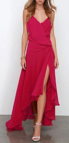 Elegant berry gown