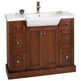 """Found it at Wayfair - 40"""" Single Modern Birchwood-Veneer Bathroom Vanity Set"""