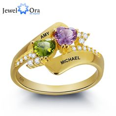 Find More Rings Information about Personalized Engrave Birthstone Ring 925 Sterling Silver Double Heart Shape Love Promise Free Gift Box (JewelOra RI101798),High Quality ring paypal,China ring balance Suppliers, Cheap ring tray from JewelOra on Aliexpress.com