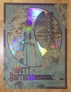 2016 The Avett Brothers - Fairfax Foil Variant Silkscreen Concert Poster by Status