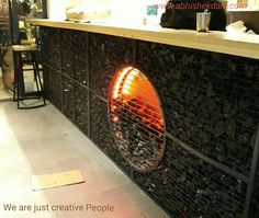 Stone fire grill, by Abhishek Dani Design www.abhishekdani.com