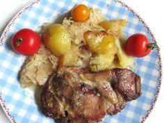 Káposztás-almás-húsos egytál