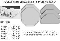 Clayworld - FK-818P-3 Kiln Furniture Kit, $200.00 (http://www.clayworld.com/fk-818p-3-kiln-furniture-kit/)