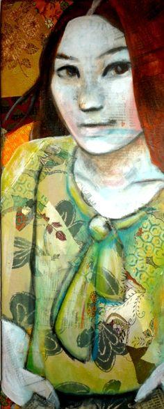 Autumn-Leo-vinh-mixed media on canvas-20x50cm-2012