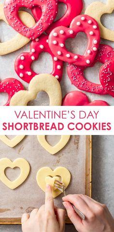 Gluten Free Shortbread Cookies, Gluten Free Cookie Recipes, Sugar Cookies Recipe, Gluten Free Desserts, Gluten Free Flour, Gluten Free Baking, Pink Icing, Heart Shaped Cookies, Cut Out Cookies