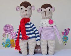 Crochet Monkey Amigurumi Pattern PATTERN ONLY PDF by KornflakeStew