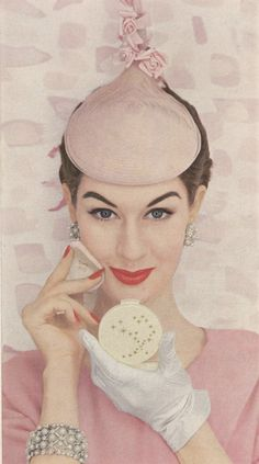 MAX FACTOR 1950s | Creme Puff | #beauty #vintage #advertisements