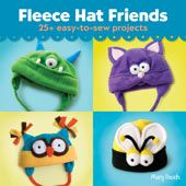 Soft, warm, comfy, and durable, fleece has taken the crafting world by storm--and the hottest new trend is animal hats. Whether you're already a fleece junky or a first-time fleece sewer, this fun collection will have you making oh-so-cute hats in no time. Thanks to a few basic templates, the hats are easy to make. But there's plenty of room for variety! Whether you choose an owl, kitty, dinosaur, or monster, every hat includes custom templates for unique facial features.
