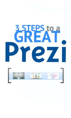We are often asked about what makes a prezi truly great. Find out the 3 key steps in this short #tutorial video.