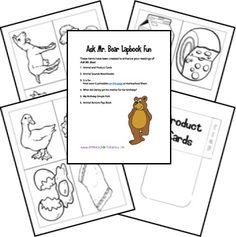 before five in a row printables and lapbooks