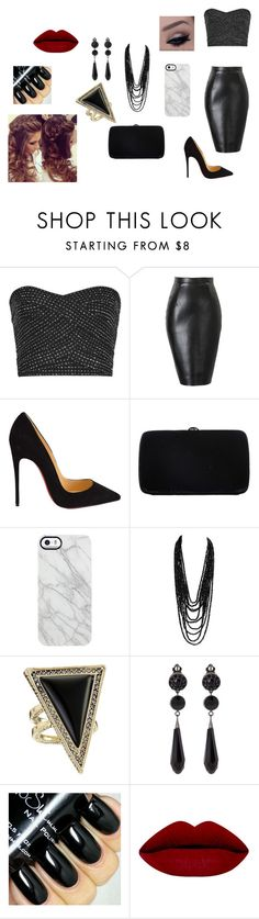 """""""clubbing 1"""" by makayla-cowan on Polyvore featuring Christian Louboutin, Sergio Rossi, Uncommon, House of Harlow 1960, Givenchy, women's clothing, women, female, woman and misses"""