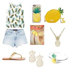 """PINEAPPLE"" by gracief-9 on Polyvore featuring Alexander Wang, Mystique, Casetify and Kate Spade"