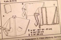 PLUS SIZE PONCHO Cape Sewing Pattern Ponchos & by patterns4you
