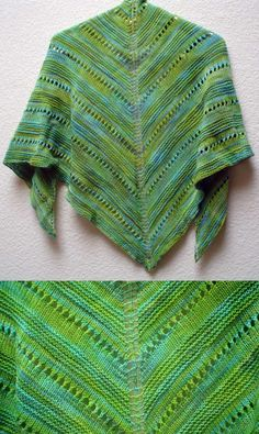 Free Lace Knitting Patterns for Beginners Easy Shawl.