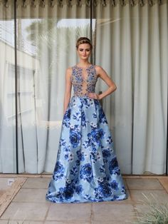 16 Luxury Dress Rose the Most Trending This Year Floral Prom Dresses, Gala Dresses, Elegant Dresses, Blue Dresses, Beautiful Dresses, Formal Dresses, Wedding Dress Patterns, Glamour, Luxury Dress
