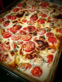 Hähnchenbrust in Tomaten-Basilikum-Soße