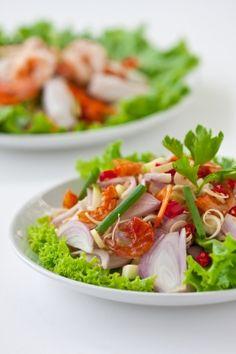 salade met kruiden