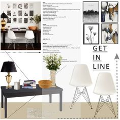Get in line by helenevlacho on Polyvore featuring interior, interiors, interior design, hogar, home decor, interior decorating, Office Star, New Growth Designs, Lipsy and Costa