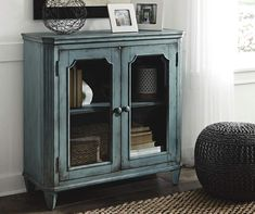 Signature Design By Ashley Mirimyn Teal Accent Cabinet | Big Lots