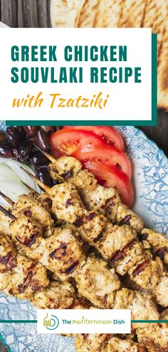 This is the chicken recipe you will want to have this summer! The Greek Chicken Souvlaki Recipe is a must for any outdoor cookout or just a weeknight dinner idea, pair it with the homemade Tzatziki sauce and you will not be disappointed! Mediterranean Diet Food List, Easy Mediterranean Recipes, Mediterranean Dishes, Vegetarian Recipes Easy, Clean Eating Recipes, Healthy Recipes, Healthy Meals For Kids, Healthy Food, Healthy Eating