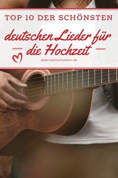 Ihr seid auf der Suche nach deutschen Liedern für eure Hochzeit? Hier findet ihr meine Top Ten der schönsten Hochzeitslieder auf Deutsch. #hochzeit #hochzeitslied