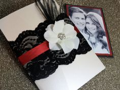 Old Hollywood Lace Wedding Invitation by peachykeenevents on Etsy