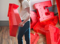 #letras #luces #DIY