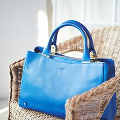 Make a bold statement with this blue L.K.Bennett tote.