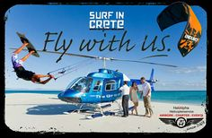 #kitesurf #kiteboard #helicopter #service #crete #greece #surfincrete