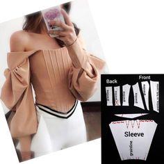 Corset Sewing Pattern, Dress Sewing Patterns, Blouse Patterns, Clothing Patterns, Corset Blouse, Asymmetrical Tops, Pattern Cutting, Cutout Dress, Fashion Sewing