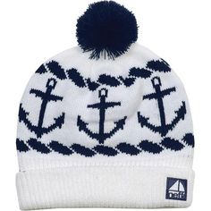 The Neff Sailor Beanie keeps it classy with a nautical boat theme. The Sailor hat keeps the party going with a fold-over style and poof on top.