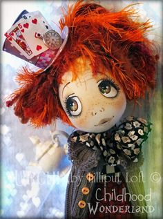 Urchin Art Doll by Vicki at Lilliput Loft