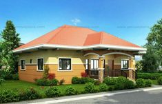 This small house design can be built in a lot having an area of sq. This design can best fit on a meters lot frontage. Smaller lots can also accommodate this design provided that the r… Small House Images, Small House Design, Modern House Design, Bungalow Floor Plans, Modern Bungalow House, One Storey House, Three Bedroom House Plan, Porch House Plans, House Construction Plan