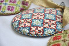 Blue Florentine Bauble Needlepoint Ornament by Kirk & Bradley- available fully kitted @ http://www.needlepoint.com/blue-florentine-bauble-kit-8771.html