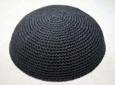 kippah dark grey by crochetkippah on Etsy
