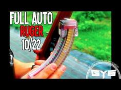 FULLY AUTOMATIC 22 Rifle- Ruger 10/22 (with Red/Green Tracers) - YouTube
