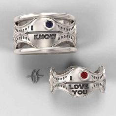 Amazingly nerdy wedding bands