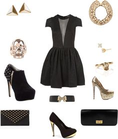 """""""black and gold"""" by vacobo on Polyvore"""