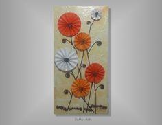 Acrylmalerei - 3D Blumen auf Keilrahmen #029 - ein Designerstück von SoMa-Art bei DaWanda