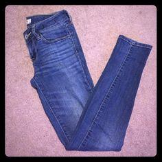 Bullhead skinny jeans Bullhead Black medium wash denim size 1 skinniest Bullhead Jeans Skinny