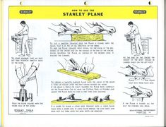 """Stanley Works used to publish a brilliant booklet called the """"Tool Guide"""" that contained miniature posters that offered instruction on setup, care and use of hand tools. These booklets weren't just…"""