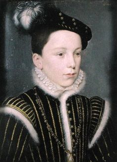 François duc d'Alençon, aged 9. Son on Henri II and Catherine de Medici