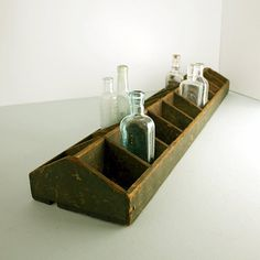 Primitive Divided Wood Tote / Display Box by ConceptFurnishings, $68.00