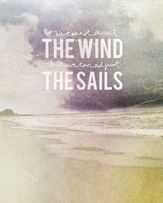 wind in the sails.