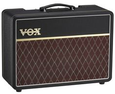 Vox AC10 Custom Output Power: 10W RMS Controls: GAIN, BASS, TREBLE, REVERB, VOLUME Tube Compliment: 2 × 12AX7, 2 × EL84 Speaker: 1 × 10-inch Celestion VX10 Input jack: INPUT jack Output jacks: EXTERNA