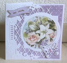 Pop Up Flower Cards, Marianne Design Cards, 3d Cards, Birthday Cards, Stamp, Joy, Crafts, Frames, Flowers