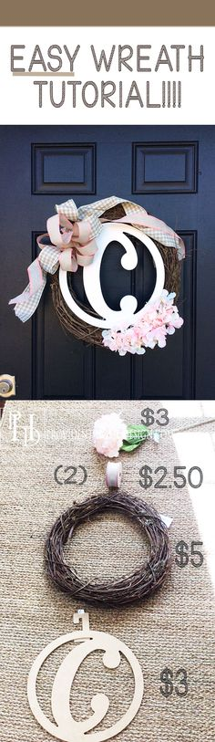 I am not a super crafty person but was able to make this wreath for about $15!  It would have been more like $80 to buy and it was so simple to make!  Easy Spring Wreath!  Come check it out!