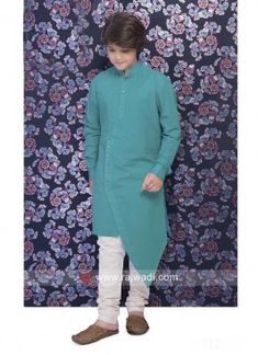 Turquoise Fabric, Turquoise Color, Fashion Wear, Mens Fashion, Fashion Outfits, Boys Kurta Design, Kurti Sleeves Design, Mens Kurta Designs, Boys Clothes Style