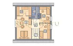 Каркасные дома 8 на 8 с мансардой –про технологию, советы по строительству и примеры проектов Floor Plans, Projects, Log Projects, Blue Prints, Floor Plan Drawing, House Floor Plans